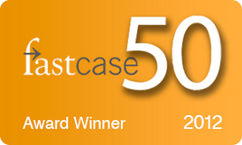 fastcase 50 Award Winner 2012